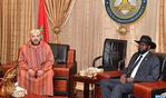 جلالة الملك يجري مباحثات على انفراد مع رئيس جمهورية جنوب السودان