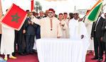 """جلالة الملك ورئيس جمهورية كوت ديفوار يشرفان على إعطاء انطلاقة أشغال بناء مسجد """"محمد السادس"""" بحي تريشفيل في أبيدجان"""