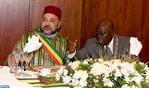 رئيس جمهورية غانا يقيم مأدبة غداء رسمية على شرف جلالة الملك