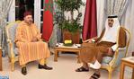 صاحب الجلالة يجري مباحثات مع أمير دولة قطر