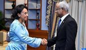 السيدة بوستة تمثل جلالة الملك في حفل تنصيب الرئيس المنتخب لجمهورية المالديف