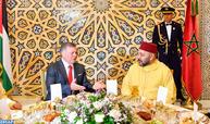 جلالة الملك يقيم مأدبة عشاء رسمية على شرف صاحب الجلالة الملك عبد الله الثاني ملك المملكة الأردنية الهاشمية