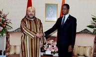 جلالة الملك يجري بلوساكا مباحثات على انفراد مع رئيس جمهورية زامبيا