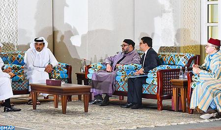 جلالة الملك يتباحث بالدوحة مع أمير قطر
