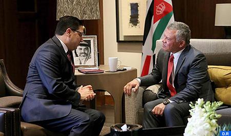 رسالة شفوية من جلالة الملك إلى العاهل الأردني