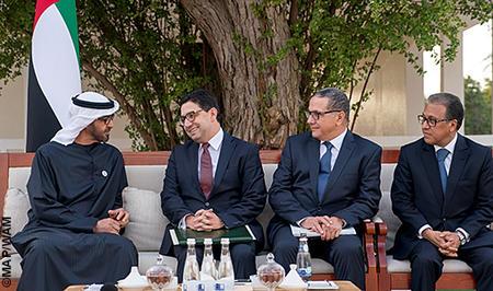 رسالة خطية من جلالة الملك إلى الشيخ محمد بن زايد ال نهيان