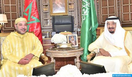 خادم الحرمين الشريفين يعرب عن شكره لجلالة الملك بخصوص إشادة جلالته بجهود الحكومة السعودية في خدمة حجاج بيت الله الحرام