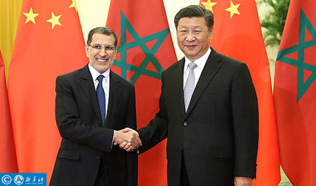 الرئيس الصيني يستقبل السيد سعد الدين العثماني