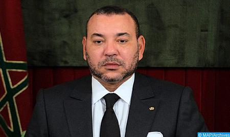 برقية تعزية ومواساة من جلالة الملك إلى الرئيس الجزائري إثر حادث تحطم الطائرة العسكرية في بوفاريك
