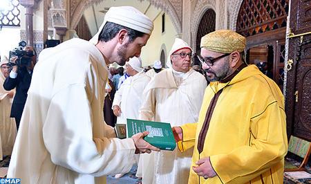 أمير المؤمنين يترأس الدرس السابع من سلسلة الدروس الحسنية الرمضانية لعام 1439-2018