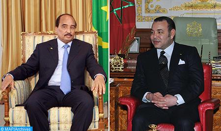 جلالة الملك يجري اتصالا هاتفيا مع رئيس الجمهورية الاسلامية الموريتانية
