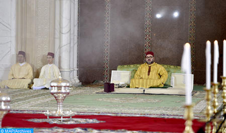 أمير المؤمنين يترأس بمسجد حسان بالرباط حفلا دينيا إحياء لليلة المولد النبوي الشريف