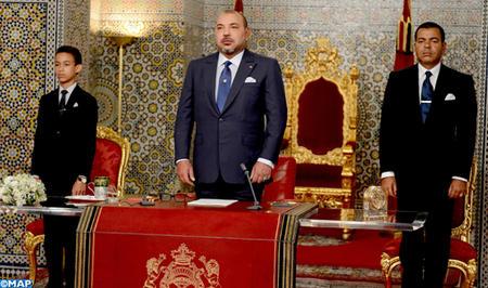 جلالة الملك يوجه خطابا ساميا إلى الأمة بمناسبة الذكرى الثانية والستين لثورة الملك والشعب