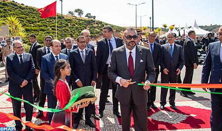 جلالة الملك يدشن الطريق المداري الحضري رقم 2 الرباط -سلا، مشروع مهيكل يستجيب لإشكاليات الحركية بين المدينتين التوأم