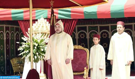 جلالة الملك يترأس بالرباط حفل استقبال بمناسبة عيد العرش المجيد