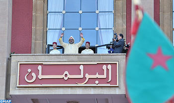 جلالة الملك يوجه خطابا ساميا في افتتاح الدورة الأولى من السنة التشريعية الثانية من الولاية التشريعية العاشرة