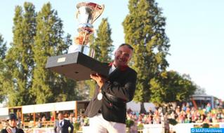الفارس الغالي بوقاع يفوز بالجائزة الكبرى لصاحب الجلالة الملك محمد السادس للقفز على الحواجز بتمارة