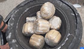 باب سبتة : إحباط تهريب 17,5 كلغ من مخدر الشيرا داخل عجلة احتياطية