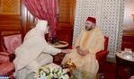 HM the King Receives Jamal Eddine Al Boutchichi Al Qadiri Who Offered Him Condolences Over Death of His Father Sheikh Hamza Al Qadiri Boutchich