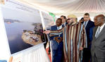 HM the King Visits Locodjro Unloading Building Site, Examines Progress of Grand Lahou's