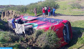 54 Injured as Coach Overturns Central Morocco