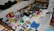 Suspect Products Seized Saturday at Dismantling of Terror Cell Used in Explosives Manufacturing (Interior Ministry)