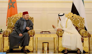 HM the King Meets in Abu Dhabi with HH Sheikh Mohammed Bin Zayed Al Nahyan