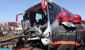 Azilal Province: Three People Killed in Collision between Bus and Taxi