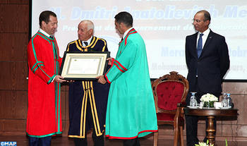 Russian PM Awarded 'Doctor Honoris Causa' by Rabat Mohammed V University