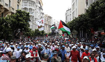 Casablanca: Popular March in Solidarity with Palestinian people