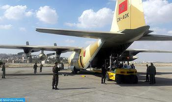 Three Moroccan Aircrafts Carrying Humanitarian Aid Sent to Palestinian People Land in Egypt
