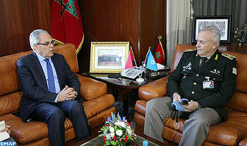 Loudyi Receives Lieutenant General Carlos Humberto Loitey, Military Adviser for UN Peacekeeping Operations