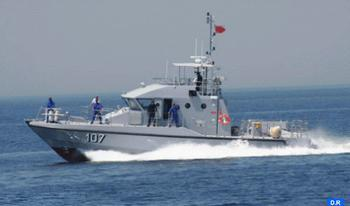 Royal Navy Helps Boat in Difficulty off Tangiers Boarded by 37 Moroccan Illegal Immigrants