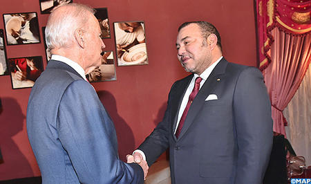 HM the King receives US Vice President Joseph Biden