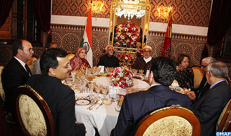 HM the King Offers Dinner in Honor of Indian Vice President
