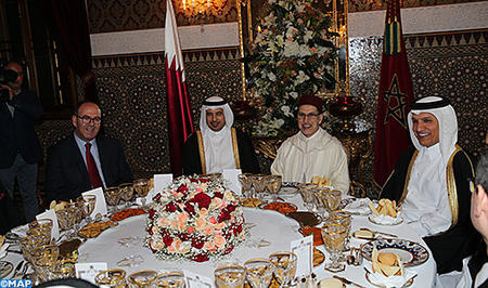HM the King Offers Dinner in Honor of Qatari Prime Minister