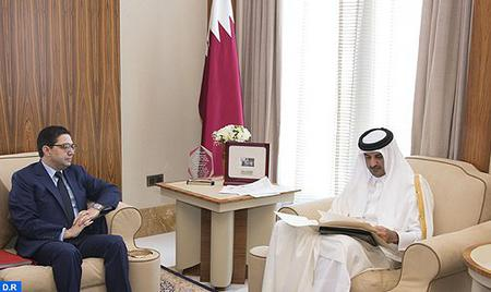 HM the King Sends Written Message to Emir of Qatar
