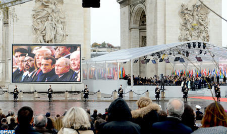 HM the King Takes Part in International Ceremony in Commemoration of Centenary of Armistice