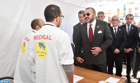 Casablanca: HM the King Launches Outpatient Medical Campaign, Lays Foundation Stone of Community Medical Center