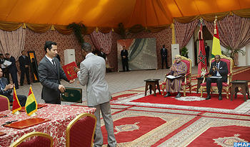 HM the King and President Alpha Condé chair signing ceremony of 21 bilateral agreements