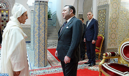 HM the King receives Omar Hilale and entrusts him with the position of Ambassador, permanent Representative of the Kingdom of Morocco to UNO in New York (Royal Office)
