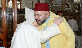 HM the King, Commander of the Faithful, Performs Friday Prayer at Al Imam Malek Mosque in Fez