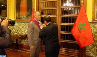 Moroccan Ambassador in Lima Awarded Insignia of Grand Cross of Sun of Peru Order
