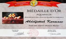 Moroccan Abdelfettah Karmane Wins 'Mondial Art Academy' Prize