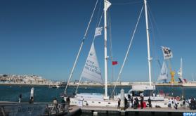 'Blue Panda' Sailboat Docks at Tangier Marina