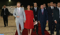 Prince Harry and his Spouse Meghan Markle Arrive in Morocco