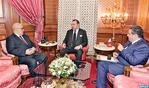 SM el Rey recibe en Casablanca al Jefe de Gobierno y al ministro de Agricultura y Pesca Marítima
