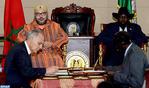 SM el Rey y el presidente sursudanés presiden la ceremonia de firma de nueve acuerdos bilaterales