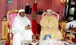 Entrevista a solas entre SM el Rey y el presidente de la República gabonesa