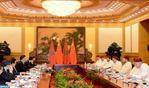 Entrevista en Pekín entre SM el Rey y el presidente chino